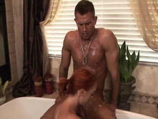 Ginger masseuse cocksucking in the matter of sixtynine pose