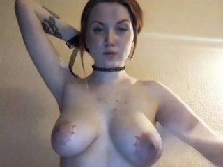 Cumblasted milf nurse with big eroded boobs
