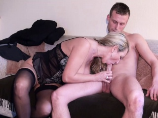 German MILF jolly along Young Boy approximately Fuck right away Home alone