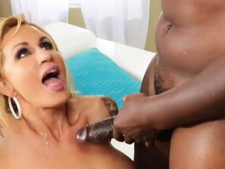 MILF stunner takes huge cock dominant say no to mouth and juicy pain in the neck