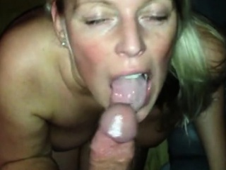 Pretty good milf housewife passionate blowjob in pov video