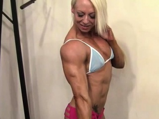 Off colour Female Bodybuilder Say no to Muscles Are Unattended Hot