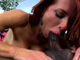Redhead bit of crumpet pegging and deepthroating