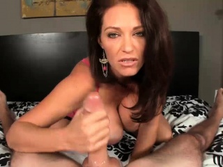 POV Busty MILF  Enjoys Men  Offering Big Cum Lashings