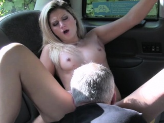 Glamorous sweetheart starts cock-riding medial chum around with annoy ordinance taxi