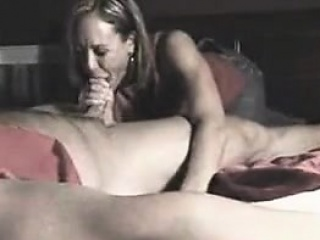 Mature handjob milf in spex giving blowjob
