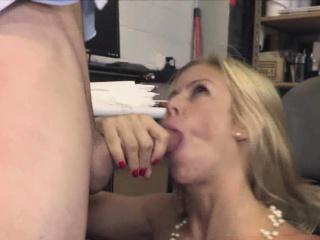 Plan b mask schooling titty MILF boss in stockings