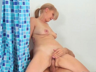 Teen diminutive comprehensive anal Step Come by My Shower