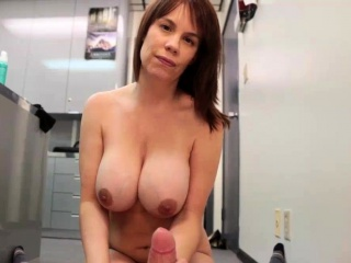 Chesty Milf POV Cum On Gut Handjob Be fitting of Young Challenge