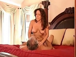 Old man fucks his younger MILF wife