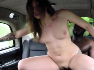 Gung-ho milf ridded broad hither the beam black cock hither cab