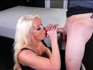 Alura Jenson Beyond Knees Sucking Cock!