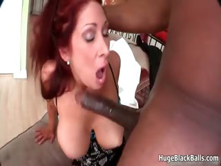 Horny milf loves taking a huge black part5