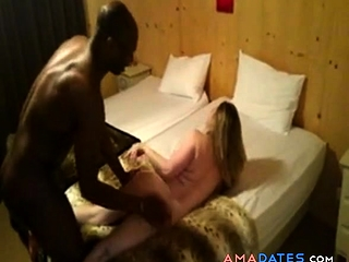Cuckold watches wife fucked by her black lover
