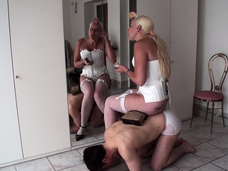 Femdom strata use slaves as human pieces