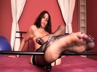 Girls shows their feet