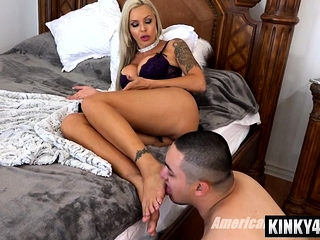 Hot menial domination with cumshot