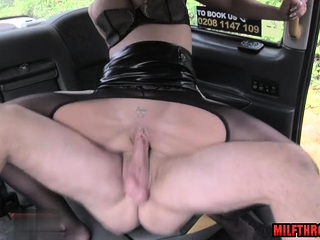 Hot milf throat hold up to ridicule with facial