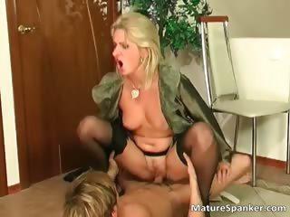 Nasty hot big boobed blonde MILF slut part1