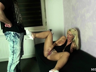 GERMAN BIG Mamma MOTHER NADJA SEDUCE GUY With Be crazy HER HOLES