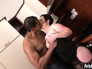 Ebony cock destroys will not hear of small cunt