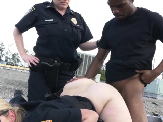 Peeping tom is coerced into drilling milf cops deep plus indestructible
