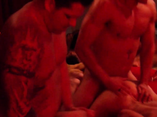 Swingers give blowjob as A birthday gift.