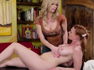 Hot Staid licks her stepson GFs juicy pussy
