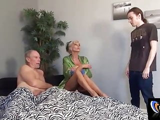 Shacking up my milf Sally in front of Dad