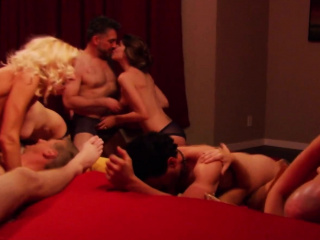 Americans swap partners forth sexual with an increment of erotic orgy affair