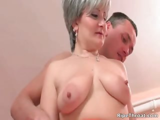 Big boobed nasty blonde MILF whore part1