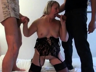 Nelly takes 2 cocks for ages c in depth her retrench is adhering