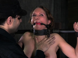 Restrained milf surrenders to her dextrous
