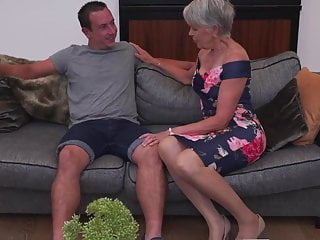 Sexy granny gets taboo dealings from boy