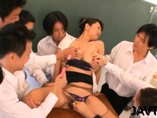 Nude japanese darling mill admirable with her progressive sex tool