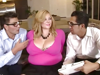 BBW Fucked by Two Nerds