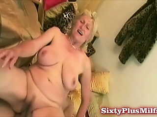 Shaven granny snatch fucked
