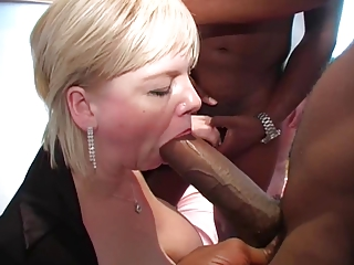 bbc gang bang with blonde milf