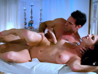 Cougar masseuse spoon fucked after knead