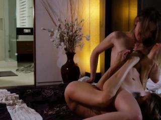 Milf licks her husbands horny floss