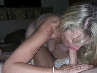 Grannie saggy tits sucks big gumshoe