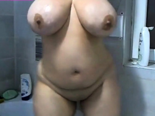Chesty Curvy Prexy Woman Big Bowels with Ass!