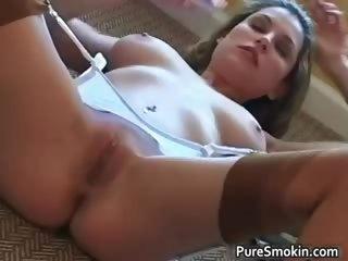 Sexy brunette MILF Jamie Lynn smokes part6