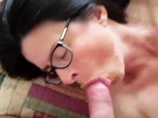 Rene Culminate and cum shot in mouth