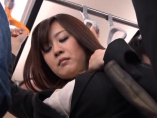 Luxurious eastern Nana Aoyama riding a broad in the beam chopper