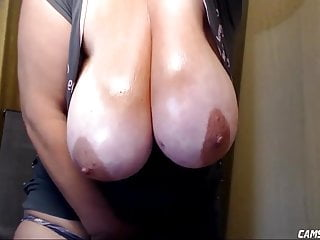 Very Busty BBW Orgasming While Husband To hand Work