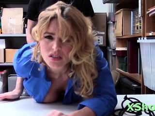 Lever rams topnotch maid Krissy Lynn's putz