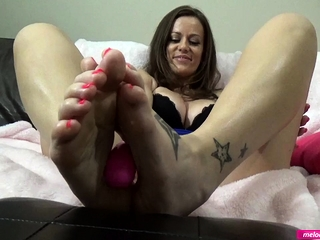 #5 Melody Radford SUCK LICK my Toes occasionally Feet Lady-love my dildo