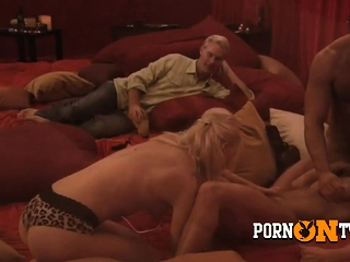 Hot and wettish sex adjacent to this horny amateur swinger couple.