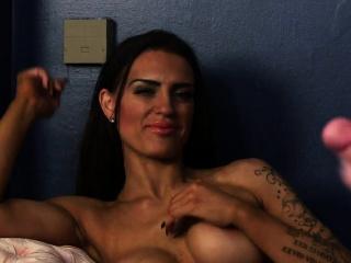 Stunning voyeur newborn dominates cock
